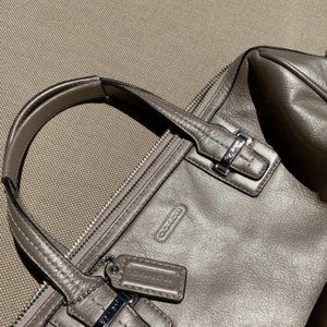 Coach Champagne Leather Satchel